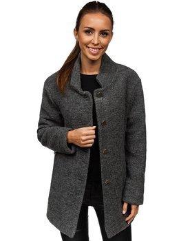 Antracitový dámsky kabát BOLF 1950