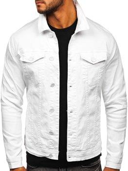 Biela pánska rifľová bunda Bolf G039