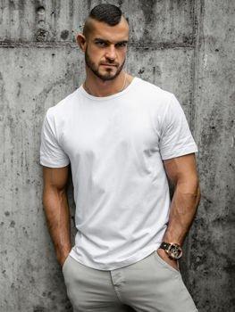 Biele pánske tričko bez potlače BOLF T1279