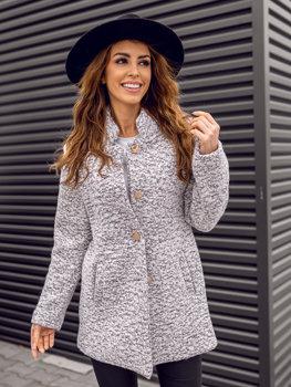 Biely dámsky kabát BOLF 6011-1