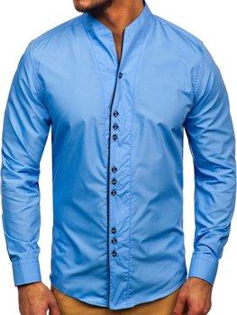 Blankytná pánska košeľa s dlhými rukávmi BOLF 5720
