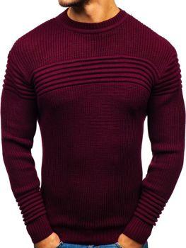Bordový pánsky sveter BOLF 6004