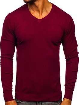 Bordový pánsky sveter s Včkom Bolf YY03