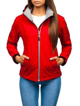 Červená dámska softshellová prechodná bunda BOLF AB056