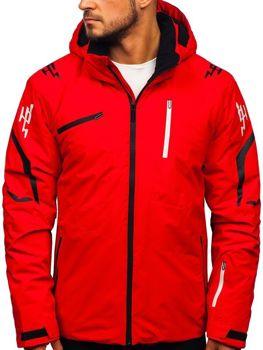 Červená pánska lyžiarská zimná bunda Bolf 5941