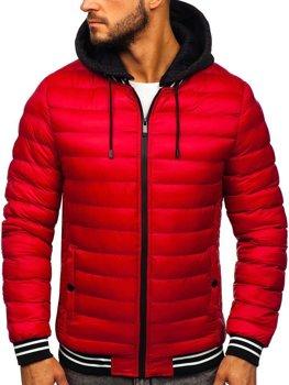 Červená pánska prechodná bunda Bolf 5331