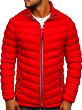 Červená pánska športová prechodná bunda Bolf SM71