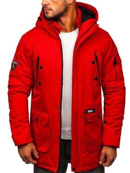 Červená pánska zimná bunda Bolf HY827