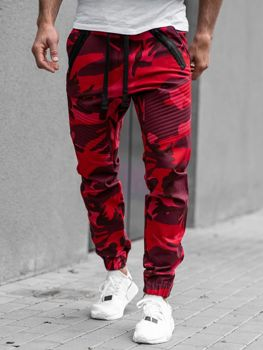 Červené pánske jogger nohavice BOLF 0952