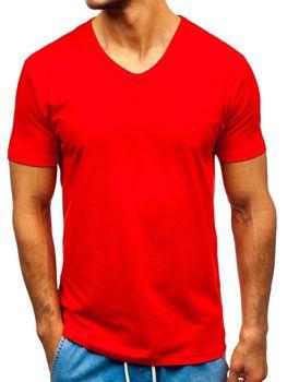 c814bd9b91bed Červené pánske tričko bez potlače BOLF T1043