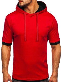 Červené pánske tričko bez potlače Bolf 08