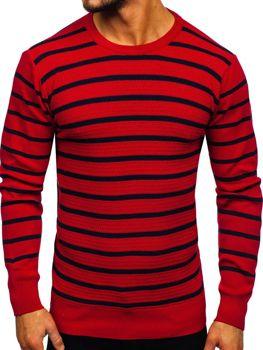 Červený pánsky sveter Bolf H6052