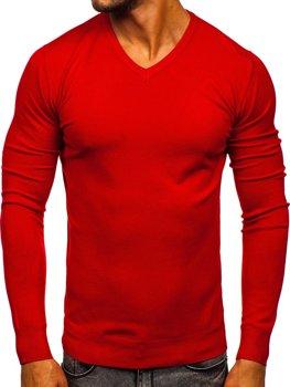 Červený pánsky sveter s Včkom Bolf YY03