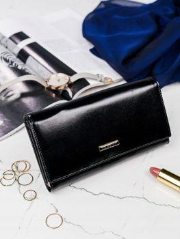 Čierna dámska kožená peňaženka 2977
