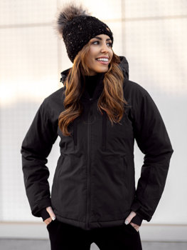 Čierna dámska lyžiarská zimná bunda Bolf HH012