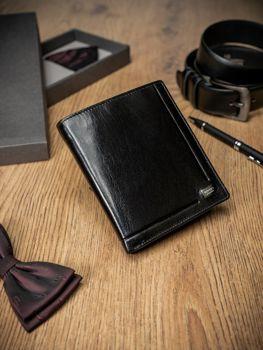Čierna pánska kožená  peňaženka 238