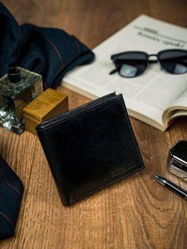 Čierna pánska kožená peňaženka 4587
