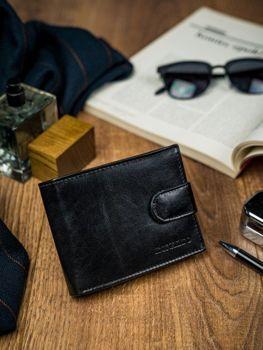 Čierna pánska kožená peňaženka 4590