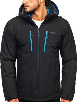 Čierna pánska lyžiarska bunda Bolf BK193