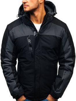 bfa26b9878 Čierna pánska lyžiarska zimná bunda BOLF HZ8112