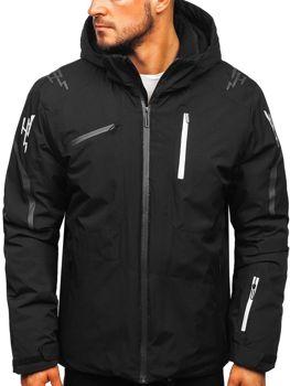 Čierna pánska lyžiarská zimná bunda Bolf 5941