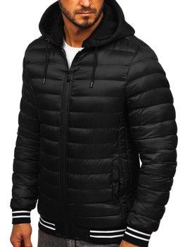 Čierna pánska prechodná bunda Bolf 5331