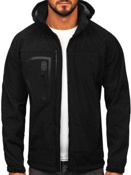Čierna pánska softshellová bunda BOLF T019