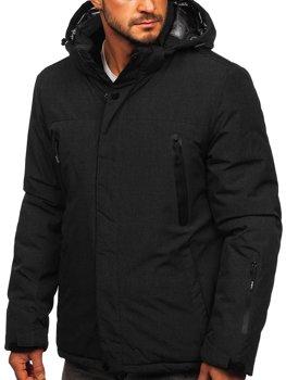 Čierna pánska športová lyžiarská zimná bunda Bolf 9801