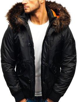 Čierna pánska zimná bunda BOLF 99123 9467f009a1c