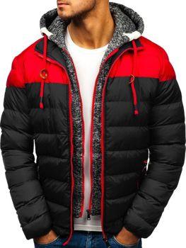 Čierna pánska zimná bunda BOLF A131