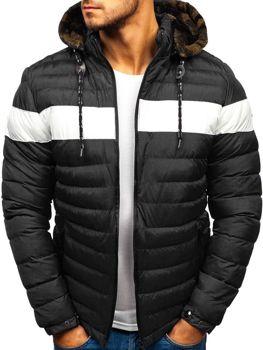 0d190c8132f2 Čierna pánska zimná bunda BOLF A410