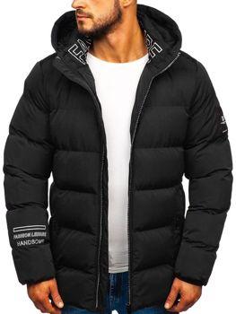 Čierna pánska zimná bunda Bolf 5973