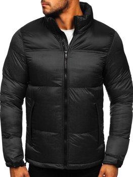Čierna pánska zimná bunda Bolf HY821