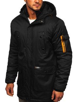 Čierna pánska zimná bunda Bolf HY827