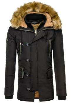 Čierna pánska zimná bunda parka Bolf 1045C