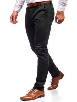 Čierne pánske chinos nohavice Bolf KA6807