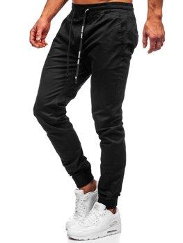 Čierne pánske jogger nohavice Bolf KA951