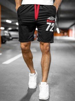 Čierne pánske teplákové šortky Bolf EX05
