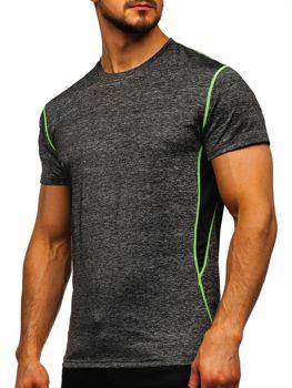 Čierne pánske tričko bez potlače Bolf KS2104