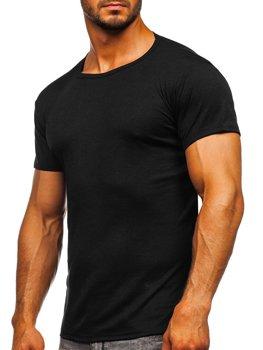 Čierne pánske tričko bez potlače Bolf NB003