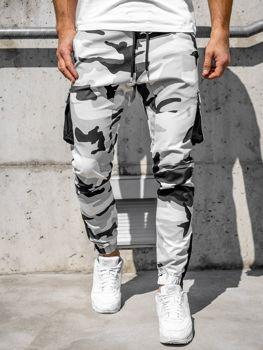Čierno-biele pánske kapsáčové joggery Bolf 0705