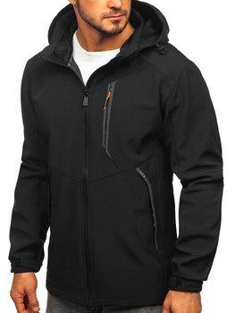 Čierno-oranžová pánska softshellová bunda Bolf 12266