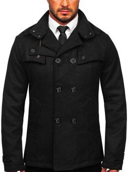 Čierny pánsky kabát BOLF 8857