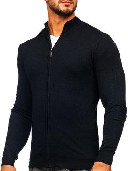 Čierny pánsky sveter so zapínaním Bolf YY07