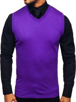 Fialová pánska pletená vesta Bolf 2500