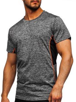 Grafitové pánske tréningové tričko Bolf HM073