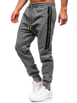 Grafitowe spodnie męskie dresowe Denley TC980