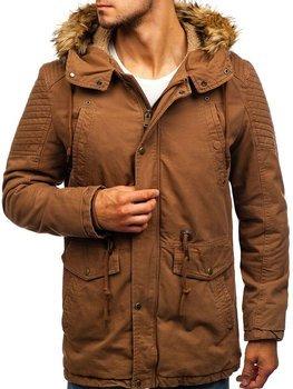 Hnedá pánska zimná bunda parka BOLF 5810