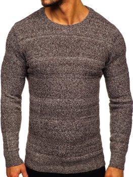 Hnedý pánsky sveter Bolf H1926