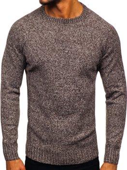 Hnedý pánsky sveter Bolf H1929